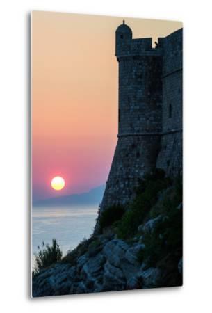 Sunset at the Walls of Old Town, Dubrovnik, UNESCO World Heritage Site, Croatia, Europe-Karen Deakin-Metal Print