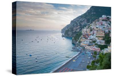 View over Positano, Costiera Amalfitana (Amalfi Coast), UNESCO World Heritage Site-Frank Fell-Stretched Canvas Print