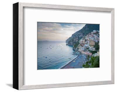 View over Positano, Costiera Amalfitana (Amalfi Coast), UNESCO World Heritage Site-Frank Fell-Framed Photographic Print