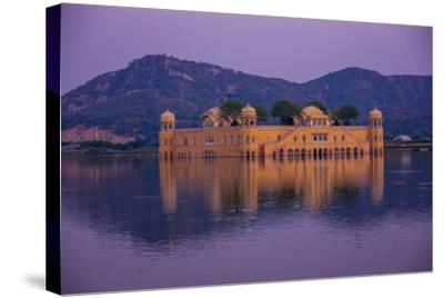 Jal Mahal Floating Lake Palace, Jaipur, Rajasthan, India, Asia-Laura Grier-Stretched Canvas Print