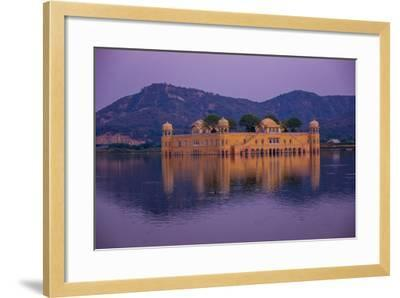 Jal Mahal Floating Lake Palace, Jaipur, Rajasthan, India, Asia-Laura Grier-Framed Photographic Print