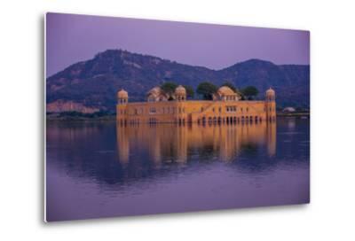 Jal Mahal Floating Lake Palace, Jaipur, Rajasthan, India, Asia-Laura Grier-Metal Print