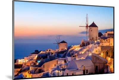 Windmill and Traditional Houses, Oia, Santorini (Thira), Cyclades Islands, Greek Islands-Karen Deakin-Mounted Photographic Print