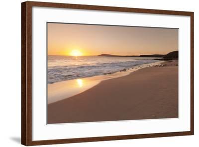 Playa Papagayo Beach at Sunset, Near Playa Blanca, Lanzarote, Canary Islands, Spain-Markus Lange-Framed Photographic Print