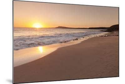 Playa Papagayo Beach at Sunset, Near Playa Blanca, Lanzarote, Canary Islands, Spain-Markus Lange-Mounted Photographic Print