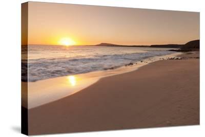 Playa Papagayo Beach at Sunset, Near Playa Blanca, Lanzarote, Canary Islands, Spain-Markus Lange-Stretched Canvas Print