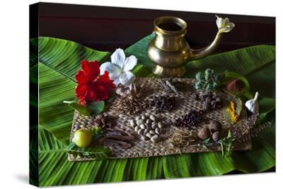 Different Indian Spices on Display at Swaswara, Karnataka, India, Asia-Thomas L-Stretched Canvas Print