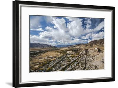 Overview of Kumbum in Gyantse, Tibet, China, Asia-Thomas L-Framed Photographic Print