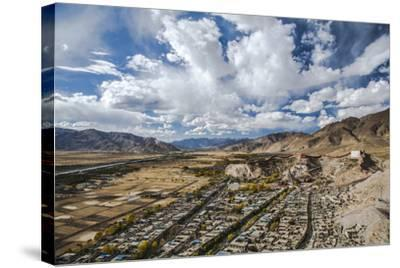 Overview of Kumbum in Gyantse, Tibet, China, Asia-Thomas L-Stretched Canvas Print