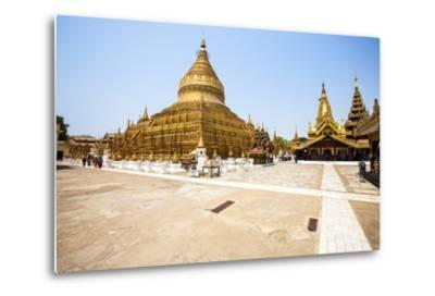 The Shwezigon Pagoda (Shwezigon Paya), a Buddhist Temple Located in Nyaung-U, a Town Near Bagan-Thomas L-Metal Print