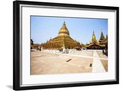 The Shwezigon Pagoda (Shwezigon Paya), a Buddhist Temple Located in Nyaung-U, a Town Near Bagan-Thomas L-Framed Photographic Print