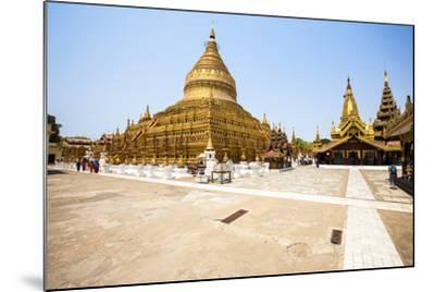 The Shwezigon Pagoda (Shwezigon Paya), a Buddhist Temple Located in Nyaung-U, a Town Near Bagan-Thomas L-Mounted Photographic Print