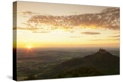 Burg Hohenzollern Castle at Sunset, Hechingen, Swabian Alps, Baden-Wurttemberg, Germany, Europe-Markus Lange-Stretched Canvas Print