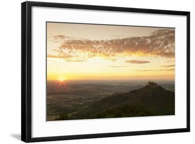 Burg Hohenzollern Castle at Sunset, Hechingen, Swabian Alps, Baden-Wurttemberg, Germany, Europe-Markus Lange-Framed Photographic Print