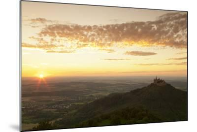 Burg Hohenzollern Castle at Sunset, Hechingen, Swabian Alps, Baden-Wurttemberg, Germany, Europe-Markus Lange-Mounted Photographic Print