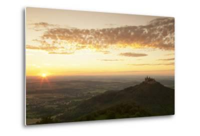 Burg Hohenzollern Castle at Sunset, Hechingen, Swabian Alps, Baden-Wurttemberg, Germany, Europe-Markus Lange-Metal Print