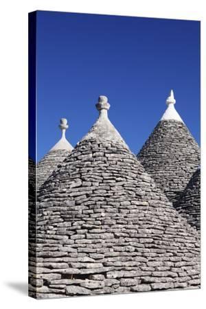 Trulli, Traditional Houses, Rione Monti Area, Alberobello, UNESCO World Heritage Site-Markus Lange-Stretched Canvas Print