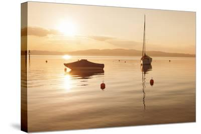 Sailing Boat at Sunset, Lake Constance, Near Konstanz, Baden-Wurttemberg, Germany, Europe-Markus Lange-Stretched Canvas Print