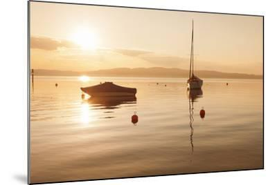 Sailing Boat at Sunset, Lake Constance, Near Konstanz, Baden-Wurttemberg, Germany, Europe-Markus Lange-Mounted Photographic Print