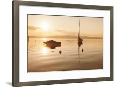 Sailing Boat at Sunset, Lake Constance, Near Konstanz, Baden-Wurttemberg, Germany, Europe-Markus Lange-Framed Photographic Print