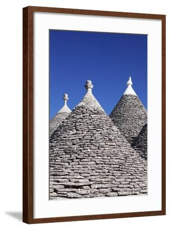 Trulli, Traditional Houses, Rione Monti Area, Alberobello, UNESCO World Heritage Site-Markus Lange-Framed Photographic Print