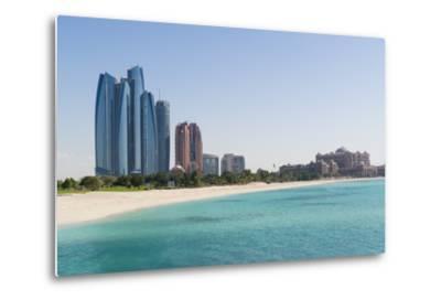 Etihad Towers, Emirates Palace Hotel and Beach, Abu Dhabi, United Arab Emirates, Middle East-Fraser Hall-Metal Print