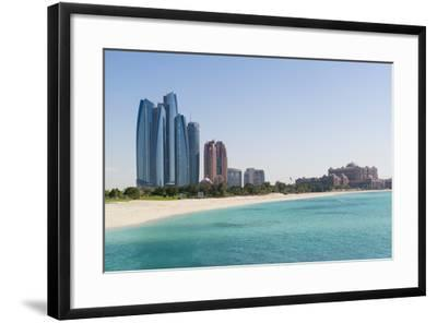 Etihad Towers, Emirates Palace Hotel and Beach, Abu Dhabi, United Arab Emirates, Middle East-Fraser Hall-Framed Photographic Print
