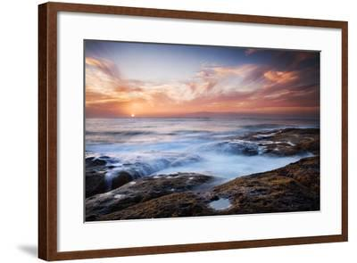 Sunset, Western Shore of Tenerife in the Canary Islands, Spain, Atlantic, Europe-Garry Ridsdale-Framed Photographic Print