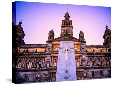 Glasgow City Chambers at Sunset, Glasgow, Scotland, United Kingdom, Europe-Jim Nix-Stretched Canvas Print