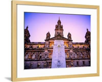 Glasgow City Chambers at Sunset, Glasgow, Scotland, United Kingdom, Europe-Jim Nix-Framed Photographic Print