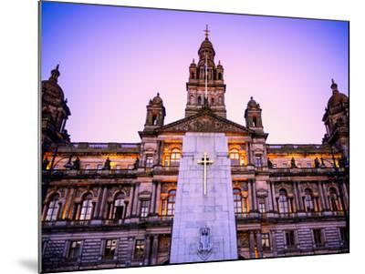 Glasgow City Chambers at Sunset, Glasgow, Scotland, United Kingdom, Europe-Jim Nix-Mounted Photographic Print