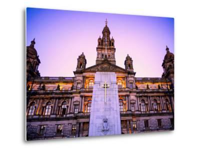 Glasgow City Chambers at Sunset, Glasgow, Scotland, United Kingdom, Europe-Jim Nix-Metal Print