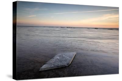 Sunrise, Saltwick Bay, Yorkshire, England, United Kingdom, Europe-Bill Ward-Stretched Canvas Print