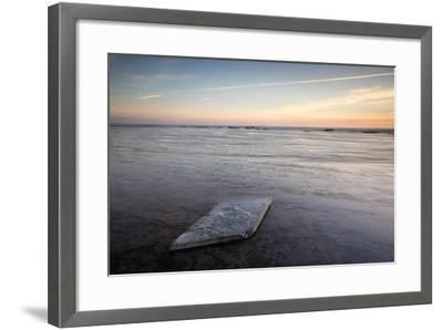 Sunrise, Saltwick Bay, Yorkshire, England, United Kingdom, Europe-Bill Ward-Framed Photographic Print