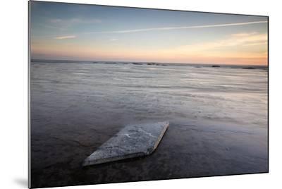 Sunrise, Saltwick Bay, Yorkshire, England, United Kingdom, Europe-Bill Ward-Mounted Photographic Print