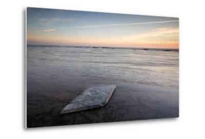 Sunrise, Saltwick Bay, Yorkshire, England, United Kingdom, Europe-Bill Ward-Metal Print