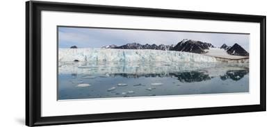 Lilliehook Glacier in Lilliehook Fjord, a Branch of Cross Fjord, Spitsbergen Island-G&M Therin-Weise-Framed Photographic Print