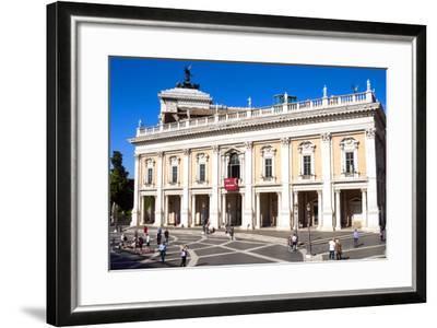 Palazzo Nuovo, Campidoglio, Capitoline Hill, UNESCO World Heritage Site, Rome, Lazio, Italy, Europe-Nico Tondini-Framed Photographic Print