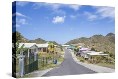 Colorful Houses of a Village on a Spring Sunny Day, Montserrat, Leeward Islands-Roberto Moiola-Stretched Canvas Print