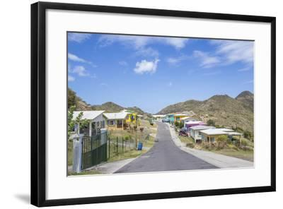 Colorful Houses of a Village on a Spring Sunny Day, Montserrat, Leeward Islands-Roberto Moiola-Framed Photographic Print