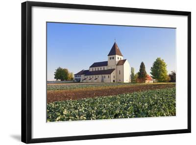 St. Georg Church, Oberzell, UNESCO World Heritage Site, Reichenau Island, Lake Constance-Markus Lange-Framed Photographic Print