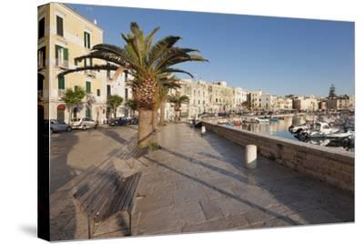 Promenade at the Harbour, Old Town, Trani, Le Murge, Barletta-Andria-Trani District-Markus Lange-Stretched Canvas Print