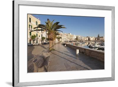 Promenade at the Harbour, Old Town, Trani, Le Murge, Barletta-Andria-Trani District-Markus Lange-Framed Photographic Print