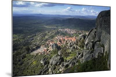 View from the Castle of the Medieval Village of Monsanto in the Municipality of Idanha-A-Nova-Alex Robinson-Mounted Photographic Print