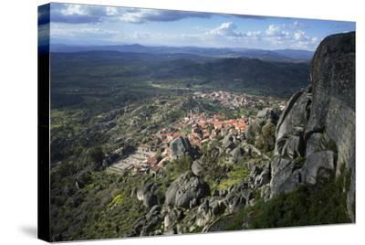 View from the Castle of the Medieval Village of Monsanto in the Municipality of Idanha-A-Nova-Alex Robinson-Stretched Canvas Print