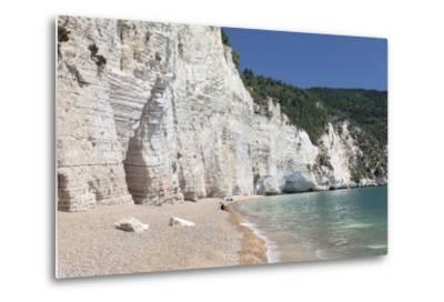 Vignanotica Bay Between Mattinata and Vieste, Gargano, Foggia Province, Puglia, Italy, Europe-Markus Lange-Metal Print