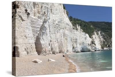 Vignanotica Bay Between Mattinata and Vieste, Gargano, Foggia Province, Puglia, Italy, Europe-Markus Lange-Stretched Canvas Print