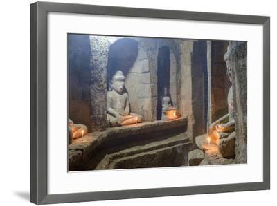 Statues of Buddha, Pagoda of Andaw, Dated 1521, Mrauk U, Rakhaing State, Myanmar (Burma), Asia-Nathalie Cuvelier-Framed Photographic Print