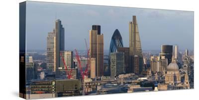 Vew of the City of London from the Top of Centre Point Tower, London, England-Alex Treadway-Stretched Canvas Print