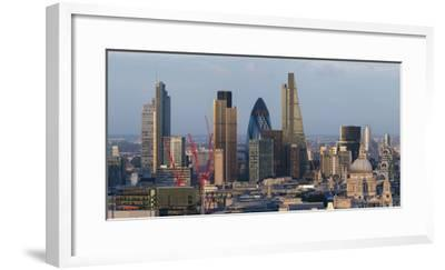 Vew of the City of London from the Top of Centre Point Tower, London, England-Alex Treadway-Framed Photographic Print
